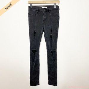 [PacSun] Black Distressed Jegging Jeans